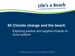 5h Climate change and the beach - Bay of Plenty Regional Council