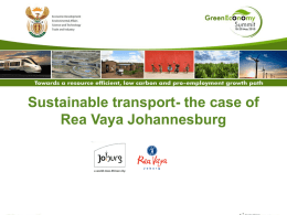 2.Sustainable transport Rea vaya Johannesburg