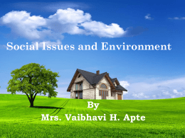 Lecture_8_Social Issues and Environment