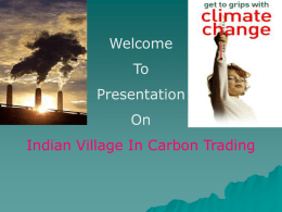 gp 21 Indian Village in Carbon Trading