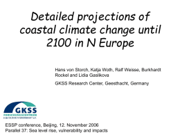 Detailed projections of coastal climate change until