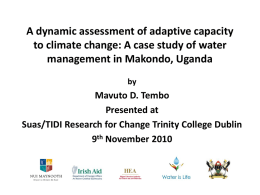 View the presentation delivered by Mavuto D