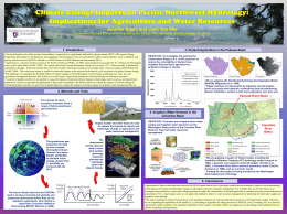 Climate change impacts on Pacific Northwest Hydrology
