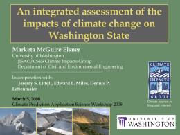 An integrated assessment of the impacts of climate change on