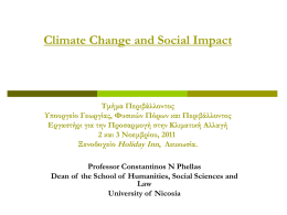 The social aspects of the impacts of climate change