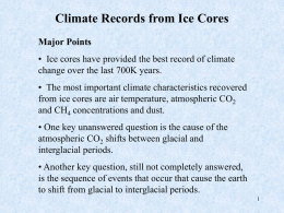 Climate Records from Ice Cores