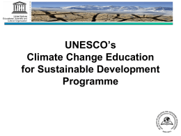 Climate Change Education for Sustainable Development (CCESD