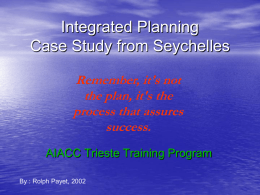 Integrated Planning in Seychelles