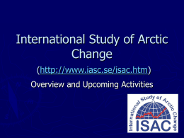 PPT - Arctic Research Consortium of the United States