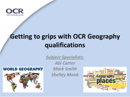 OCR - Geographical Association