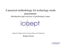 A practical methodology for technology needs assessment