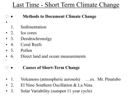 Long-term Climate Variability