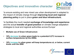 Green and blue space adaptation for urban areas and eco