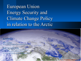 European Union Energy Security and Climate Change Policy in