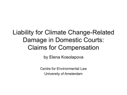 Liability for climate change-related damage in