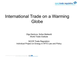 International Trade in a Warming Globe