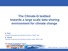 EGEE-III_review-Climate-G_demo-v3