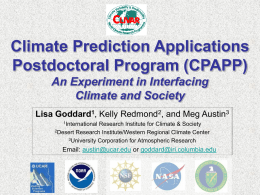 (cpapp) an experiment in interfacing climate and society