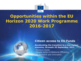 Horizon 2020 - Piernicola Pedicini