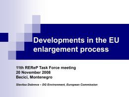 Developments in the EU enlargement process