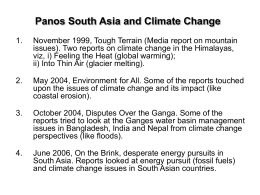 Panos South Asia and Climate Change (ppt presentation)