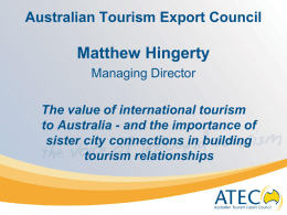 Matt Hingerty Tourism Presentation