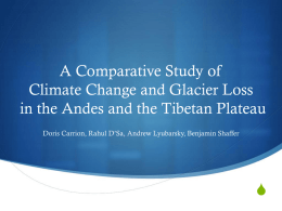 A Comparative Study of Climate Change and Glacier Loss in the
