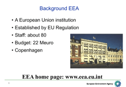 Introduction to EEA  - European Topic Centre for Air