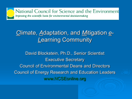 CEDD - National Council for Science and the Environment