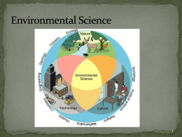 Understanding Our Environment