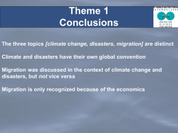 Theme 1 Wrap Up Conclusions - 5th World Water Forum Content