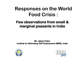 Responses on the World Food Crisis