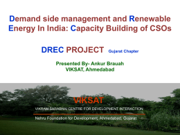 Demand side management and Renewable Energy In India