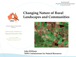 Part 1-The Rural Context (JWilliams)