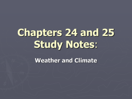 Chapters 24 and 25 Study Notes: