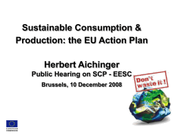 Extended Eco-design Directive - EESC European Economic and