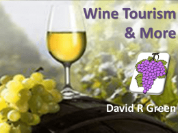 Enotourism, Wine tourism, or Vinitourism refers to tourism whose