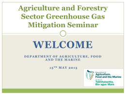 Agriculture, Food and GHGs - Department of Agriculture