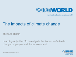 Lesson plan: The impacts of climate change