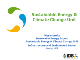 Sustainable Energy and Climate Change Initiative