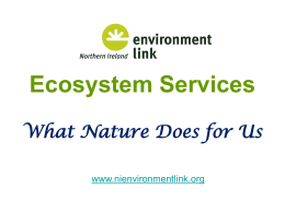 Ecosystem Services Approach - Northern Ireland Environment Link