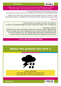 Below the poverty line card 1