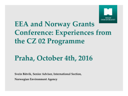 Experiences from the CZ02 Programme