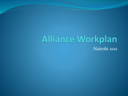 Alliance Workplan - The Church of England