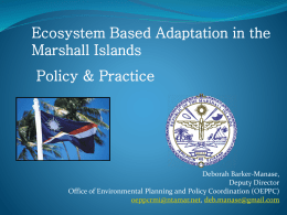 Ecological Gap Assessment: A case study from the Marshall Islands