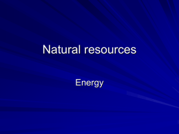 Lecture 6- Energy