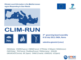 9. Second WorkShop Integrated Case Study - Clim-Run