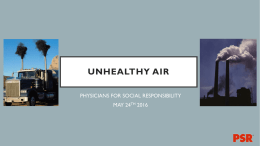 Outdoor Air Quality - Physicians for Social Responsibility