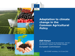 Agriculture and climate change - Eionet Forum