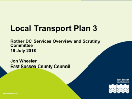 Local Transport Plan 3 - Rother District Council